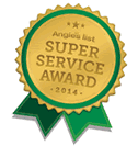 Angie's list Super Service Award logo.