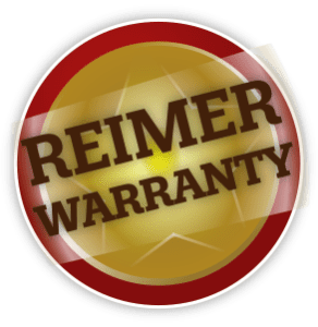 Red and yellow Reimer warranty image.