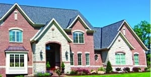 A home with new Grand Manor shingles in New Berlin.