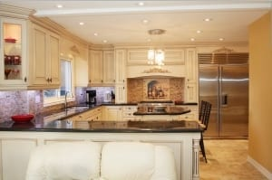 A view of a newly remodeled modern kitchen.